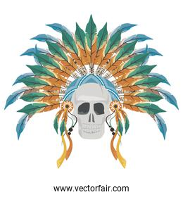 front skull indian