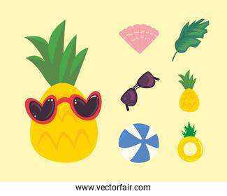 pineapple with icons