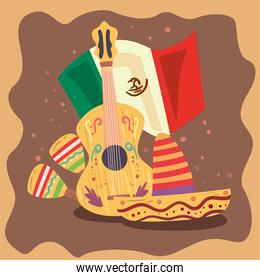 Mexican hat guitar