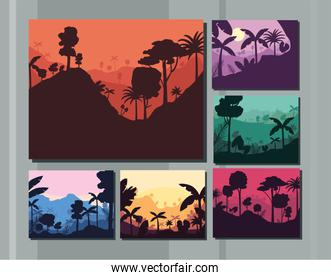 forest landscapes collection