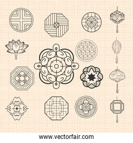 chinese ornaments icons