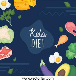 Keto diet icons