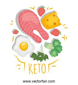 Keto food icons