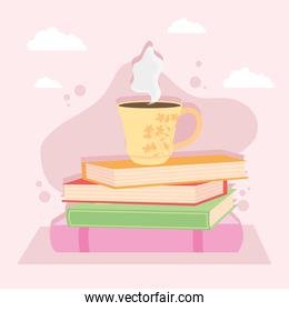 books coffee cup