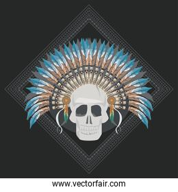 skull indian front