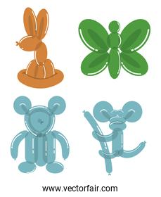 balloons animals colors