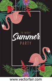 summer party lettering