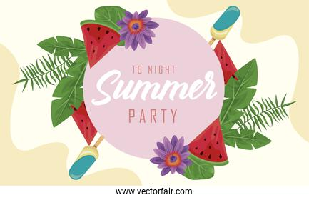 summer party frame