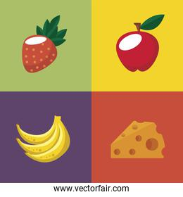 four food icons