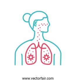 woman respiratory system
