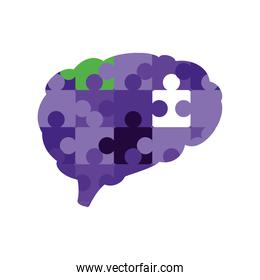 puzzles shaped brain