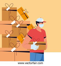 delivery man logistic