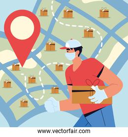 delivery man tracking