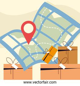 delivery boxes map