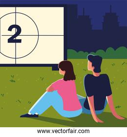 cinema outdoor movie