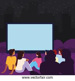 outdoor cinema concept