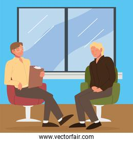 psychotherapy session characters