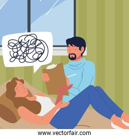 psychological consulting patient