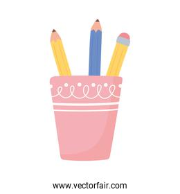 pencils on cup