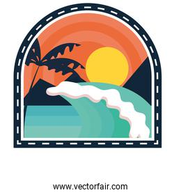 surfing beach patch