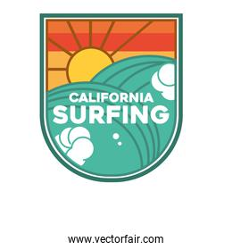 california surfing patch