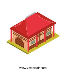 asian building isometric