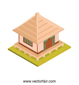 asian house isometric