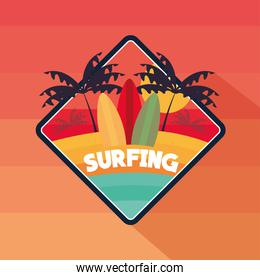 surfing tropic theme
