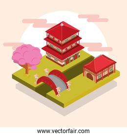 asian building house