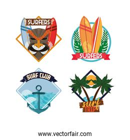 surfing patch set