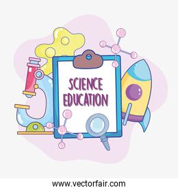 science education clipboard
