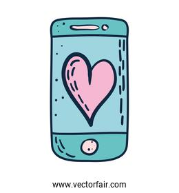 smartphone with heart