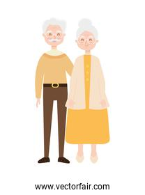 old couple standing