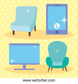 armchairs and devices