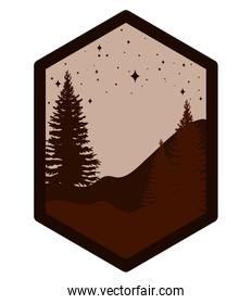 tree silhouette patch
