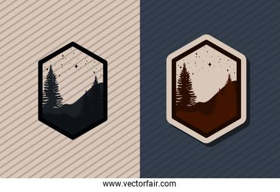 two forest emblems