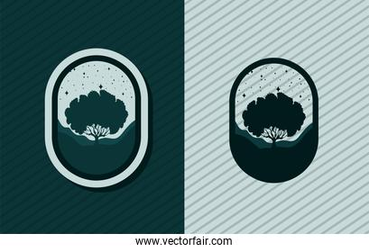 two trees emblems