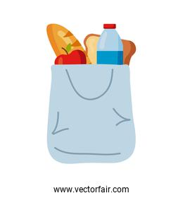 plastic bag with groceries