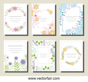 invitations with floral decorations