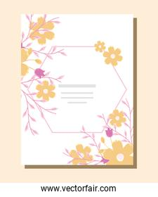 floral invitation illustration