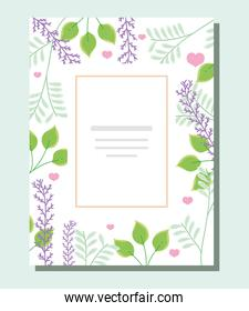 leaves and hearts invitation