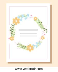 decorative floral invitation
