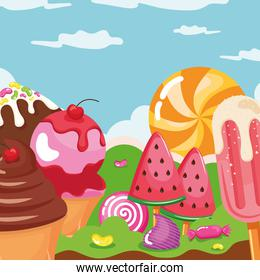 iced confectionery landscape