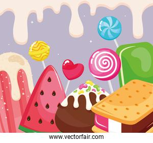 iced confectionery poster