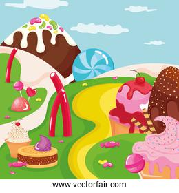 iced confectionery scene