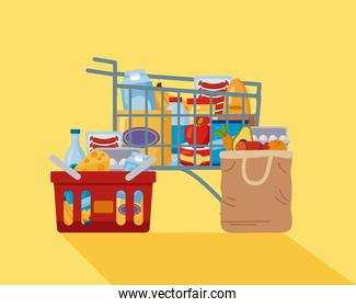 shopping market groceries