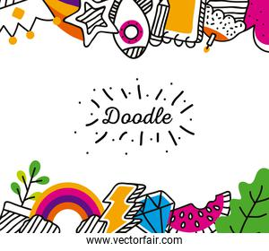 doodle icons frame