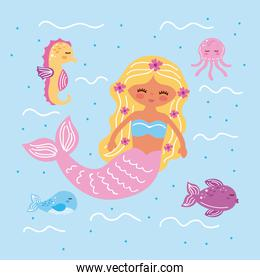 mermaid and icons
