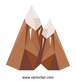 mountains lowpoly style