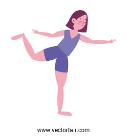 girl practicing exercise